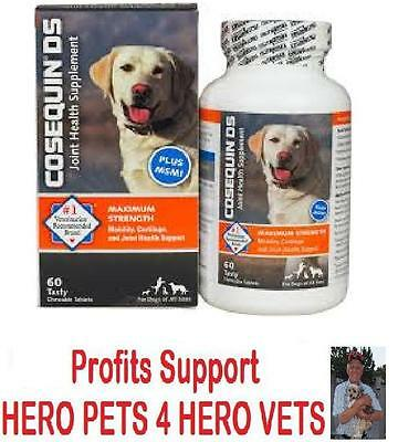 Cosequin DS 60 120 240 Count MSM Chondroitin Maximum Strength Dogs Joint