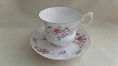 CUP & SAUCER SET - Fragrance Pattern by Paragon - Bone China - Made in England