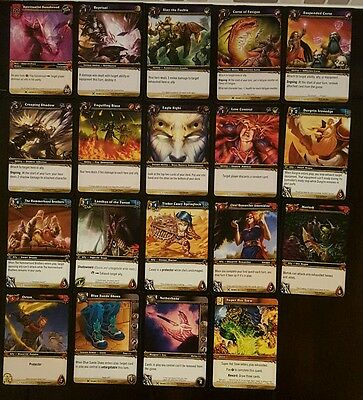 Set Lot of 19 World of Warcraft Trading Card Game WoWTCG Drums of War Cards