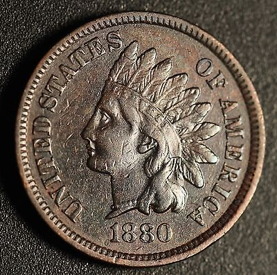 1880 INDIAN HEAD CENT - With LIBERTY & DIAMONDS - VF/XF