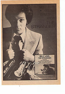"1978 Billy Joel ""The Stranger"" Album Canadian Trade Print Advtertisement"