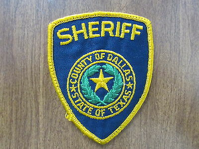 Patch Texas Dallas County Sheriff Police Fire Emt