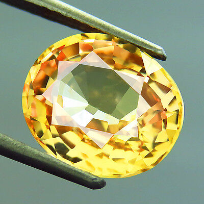 5.80ct Lab-Created AAA+ TOP GOLDEN YELLOW SAPPHIRE OVAL HAND CUT 9.7 x 11.3 MM