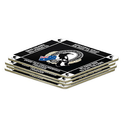 Collingwood Magpies AFL 4 Pack Coasters Coaster **AFL OFFICIAL MERCHANDISE**