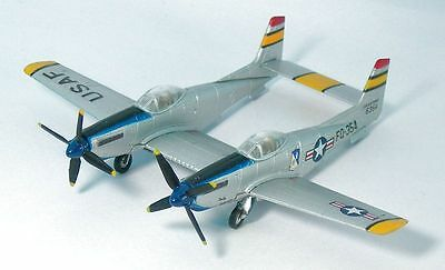 """F-Toys 1/144, F-82 Twin Mustang , U.S. Air Force in Silver """"Rare"""""""