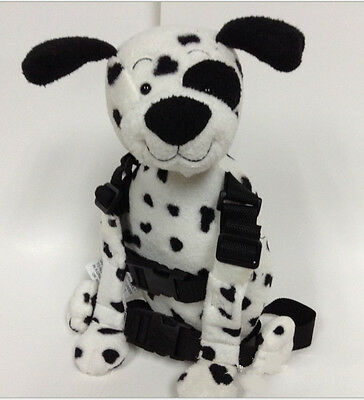 Safety Harness Strap Baby Kid Toddler Walking Backpack Reins Bag Dalmatian NEW
