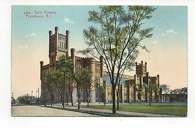 State Armory Providence Rhode Island, Vintage Postcard, Oct15