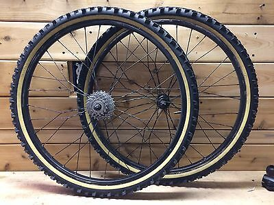 "26"" Twisted Spoke 26"" Mountain Bike wheelset Ceramic XTR Paul Ringle Kenda"