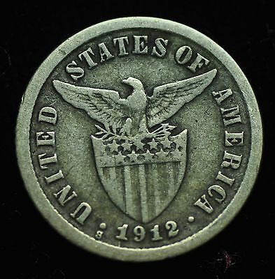 1912s US-Philippines 10 centavos Silver Coin - lot #4