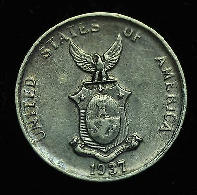 1937m US-Philippines 10 centavos Silver Coin - lot #16
