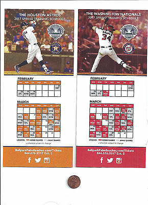 2017 Nationals, Astros, Spring Training First Year New Ballpark, Large Schedule