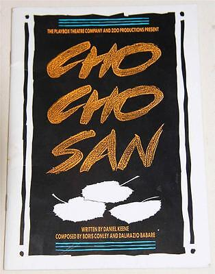 Cho Cho San 1987 Souvenir Theatre Program - Excellent