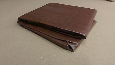 8' Brown Pool Table Cover Leatherette Naugahyde Excelllent Cover!