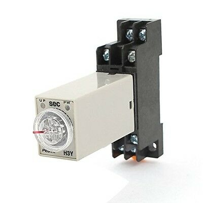 AC 110V H3Y-2 Time Delay Relay Solid State Timer 0-60S DPDT w Socket