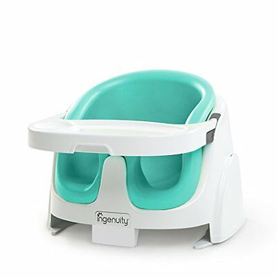 Ingenuity Baby Base BOOSTER SEAT, 2 In 1 Booster & BABY FLOOR SEAT, Mint