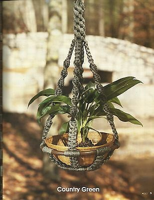 A New Look For Plant Hangers Claire Lavin Pattern Instruction #8303 Book NEW