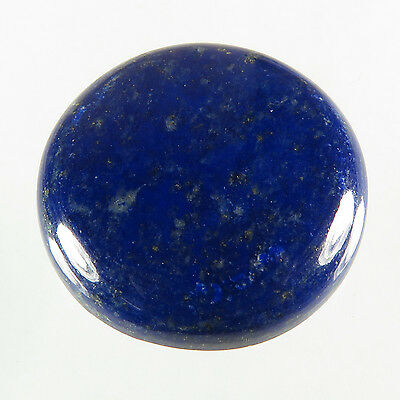 Lovely Natural 25x25 mm LAPIS LAZULI Round Cabochon Gemstone 37.50 Cts Top Store