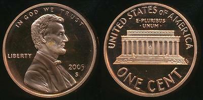 United States, 2005-S One Cent, 1c, Lincoln Memorial - Proof