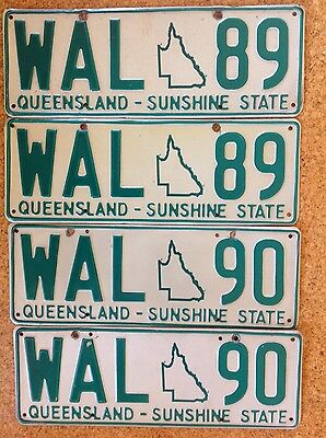 Queensland (Qld) personalised number plates - WAL 89  and WAL 90
