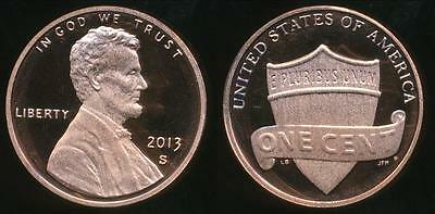 United States, 2013-S One Cent, 1c, Lincoln Shield Reverse - Proof