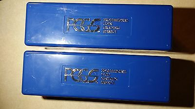 2 Blue PCGS Storage Boxes Holds 20 Coins