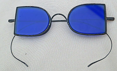 ***VERY NICE Antique  2 D Blue Spectacles with Good CASE