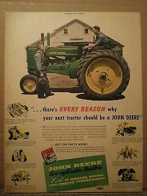 1947 John Deere two cylinder tractor ad