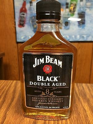 Rare Jim Beam Usa Version 200Ml Glass Bottle Black Double Aged No Homefront