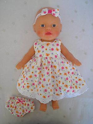 """Dolls clothes for 13"""" My Little Baby Born Doll~BUTTERFLIES~FLORAL DRESS~UNDIES~"""