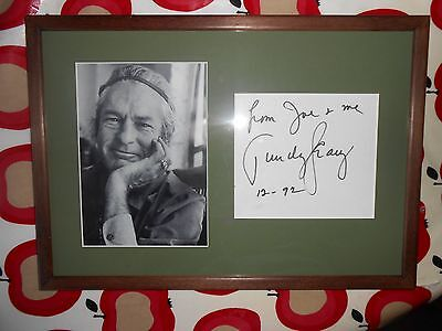 Timothy Leary SIGNED framed photograph