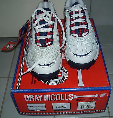 New Gray Nicolls Warrior Cricket Shoes Rubber Sole Size Us3