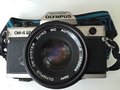 Olympus OM4-Ti  Champagne Camera Body 50mm Lens ,Body Cap, Strap, Full Working
