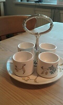 Vintage Sylvacware Egg Plate And Egg Cups