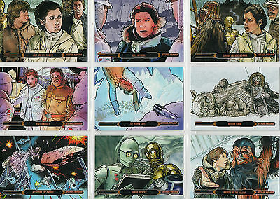 Star Wars Illustrated Empire Strikes Back - Lot Of 23 Bronze Parallel Cards NM