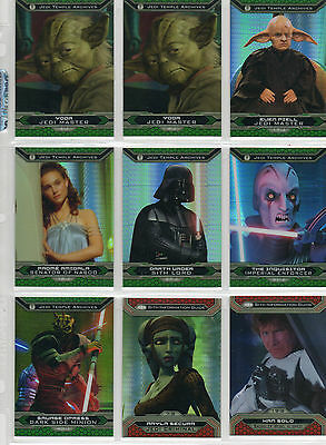 Star Wars Chrome Jedi Vs Sith - Lot Of 14 Prism Parallel Cards NM
