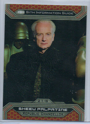 Star Wars Chrome Jedi Vs Sith - 21S 28/50 Gold Parallel Card NM