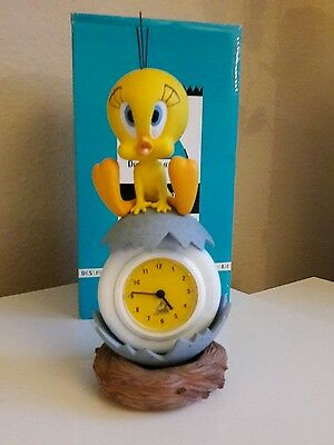 Extremely Rare! Looney Tunes Tweety Table Clock/Uhr Demons & Merveilles Statue