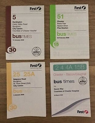 4 X First Chester Bus Timetables 2009