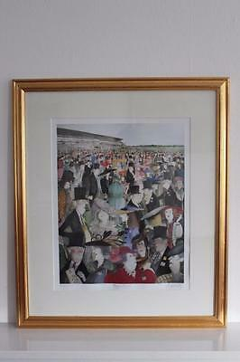 Sue McCartney Snape Pencil signed limited Edition Print of 750 Royal Ascot