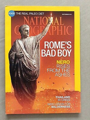 National Geographic Magazine September 2014 with Nero Cover