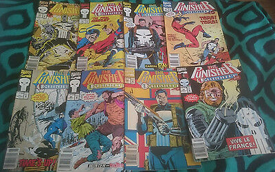 Punisher bulk lot Marvel comic 8 issues - Australian price variant newsstand