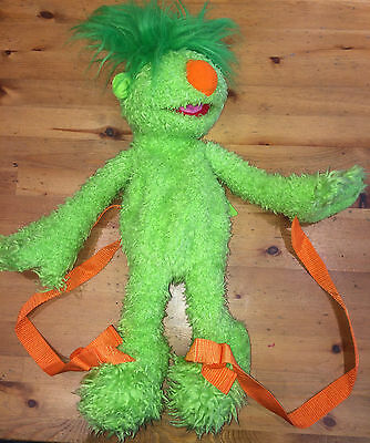 The Hoobs green groove  Plush/soft toy  Backpack/rucksack/bag vgc 2001 18""