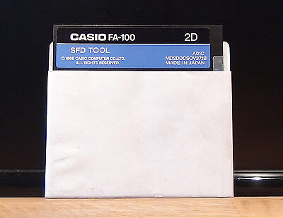 IBM / PC - CASIO FA-100 2D / SFD Tool - Organizer Interface software