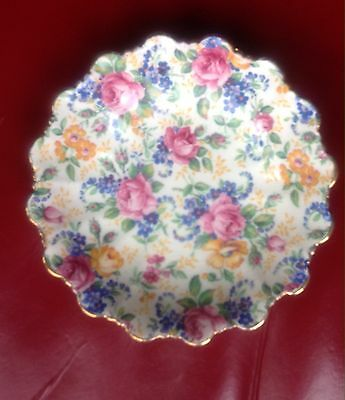 James Kent Chintz Rosalynde Small Fluted Dish