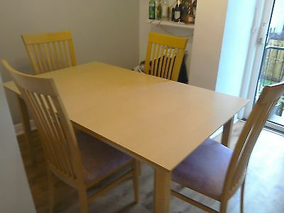 Extending dinning table x6 chairs