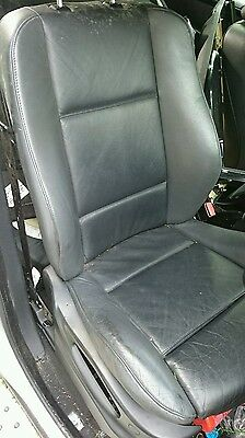 Bmw x5 e53 black leather driver's seat.