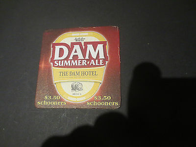 1 only DAM SUMMER ALE Craft Brewery collectable COASTER
