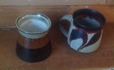 Iden Rye Cup and Wendy Nolan Pottery 1960s Vintage