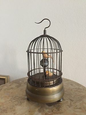 VINTAGE BIRD CAGE CLOCK Mechanical , WORKING CONDITION