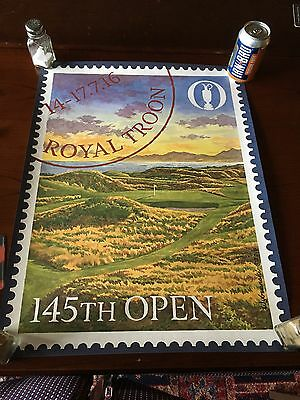 Official Open Golf Championship Poster Royal Troon 2016